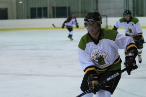 """Gary leading the """"Absorbine Seniors"""" to victory in 2011 Balsillie Cup"""